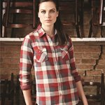 Vintage Women's Brushed Flannel Long Sleeve Shirt