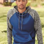 Colorblock Cosmic Fleece Hooded Pullover Sweatshirt