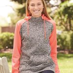 Women's  Colorblock Cosmic Fleece Hooded Pullover Sweatshirt