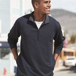 Omega Stretch Terry Quarter-Zip Pullover