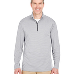Adult Striped Quarter-Zip Pullover